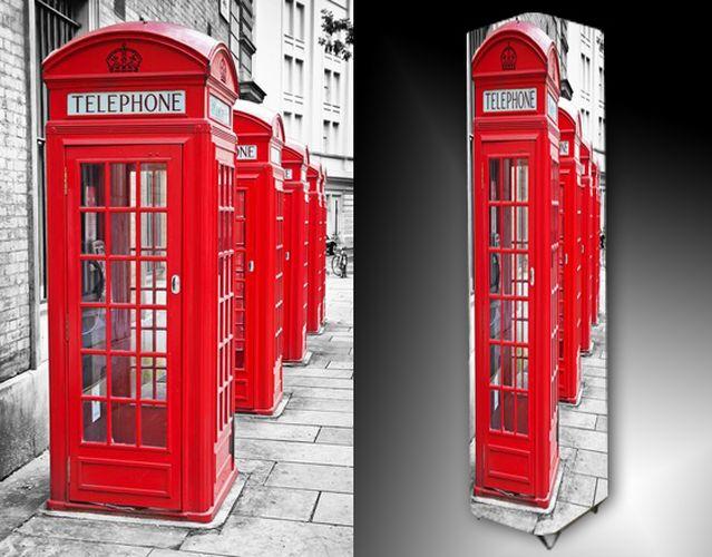 Lampa - červená telefonní budka