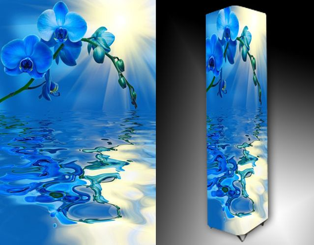 Lampa - modrá orchidej