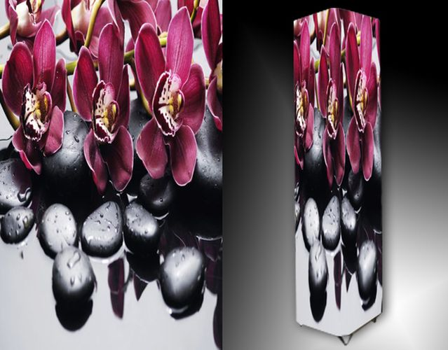 Lampa - kameny a orchidej