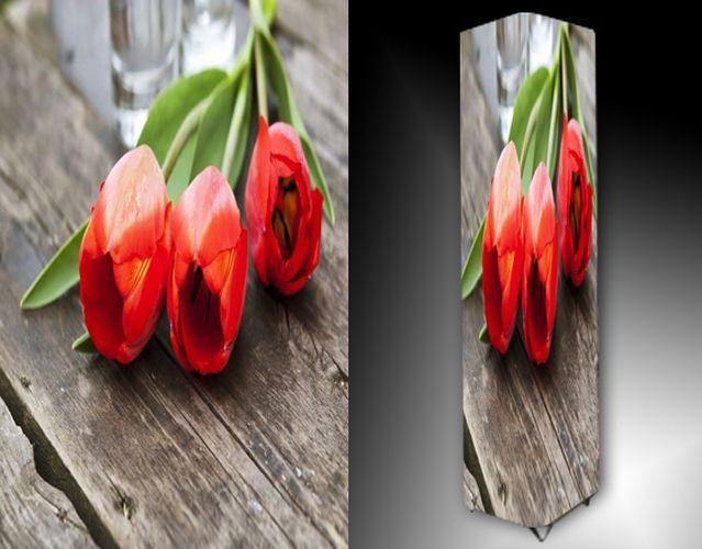 Lampa - červené tulipány