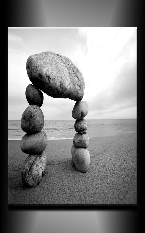 Obraz do bytu kameny v písku