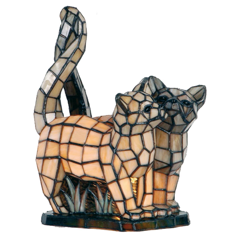 Dekorativní lampa Tiffany kočky