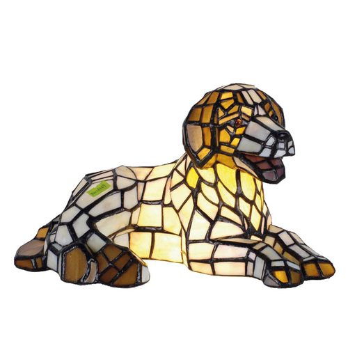 Dekorativní lampa Tiffany pes