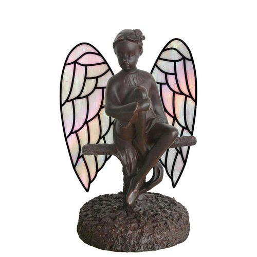 Dekorativní lampa Tiffany anděl