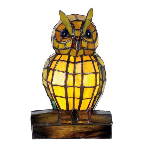 Dekorativní lampa Tiffany sova