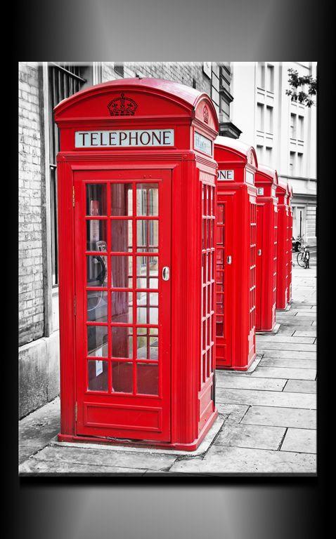 Obraz do bytu telefonní budky