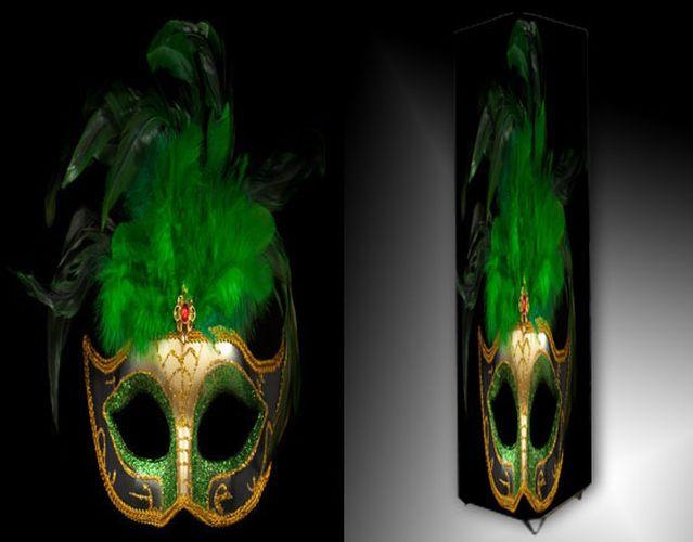 Lampa - zelená maska