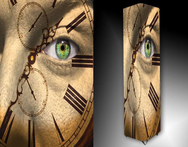 Lampa - hodiny s okem