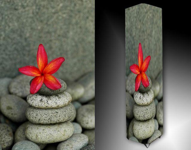 Lampa - kameny a květ