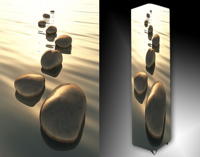 Lampa - kameny a voda