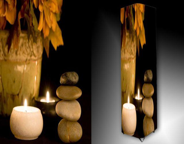 Lampa - kameny a svíčky