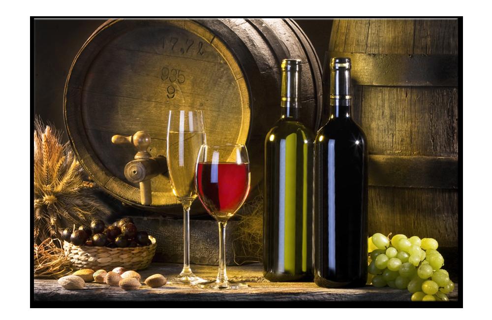 Obraz zátiší s vínem