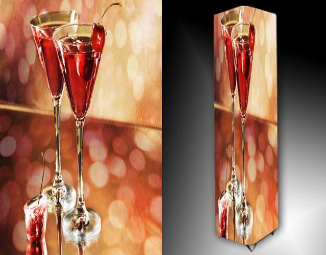 Lampa - červený alkohol
