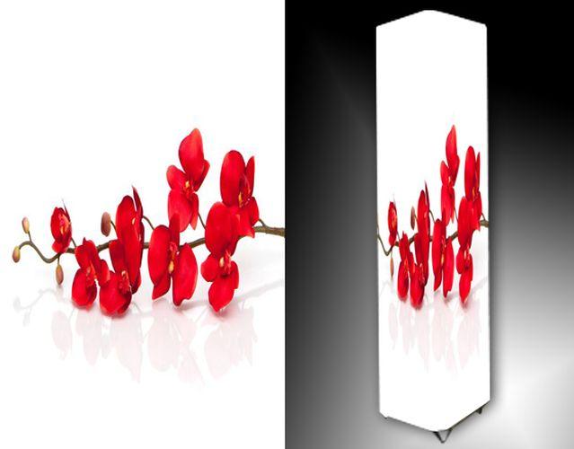 Lampa - červená orchidej