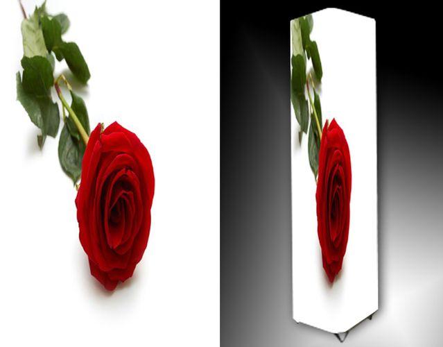 Lampa - červená růže