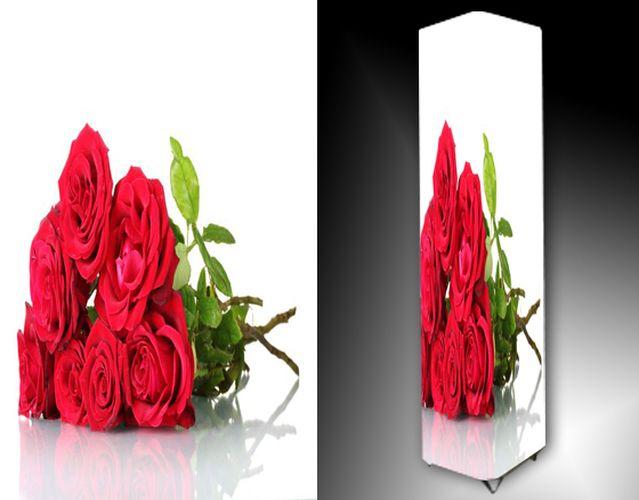 Lampa - červené růže