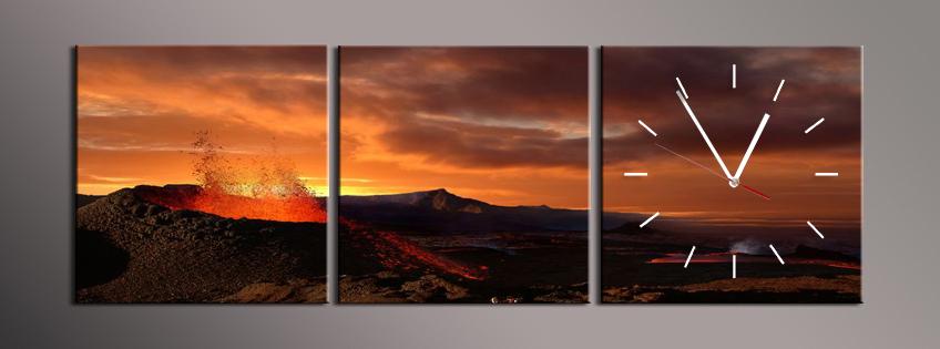 Obraz s hodinami sopka