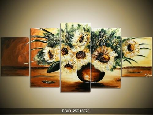 Obraz vázy se slunečnicí