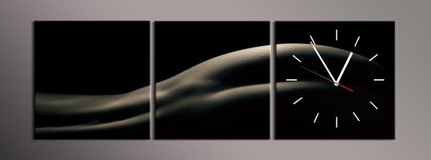 Obraz s hodinami ženské pozadí