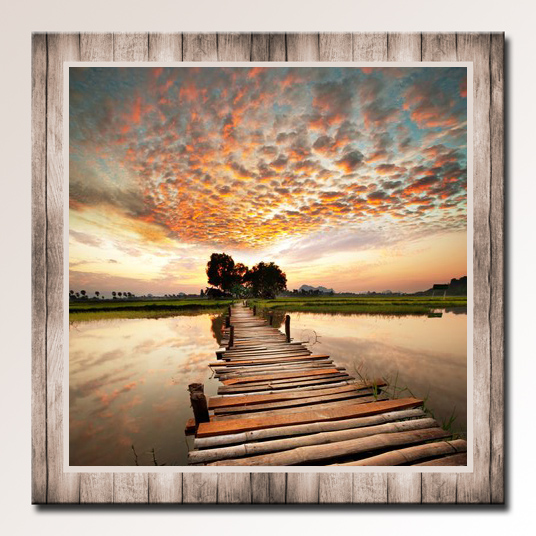 Obraz do bytu dřevěné molo