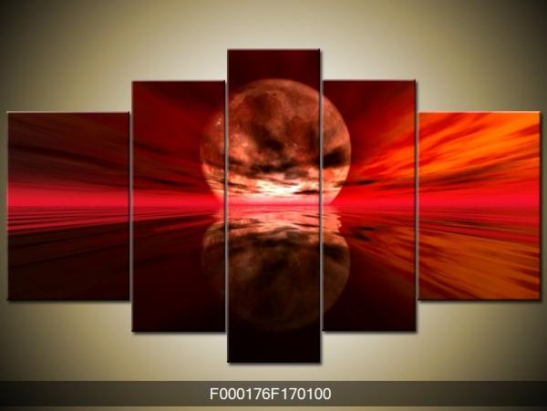Obraz rudého měsíce