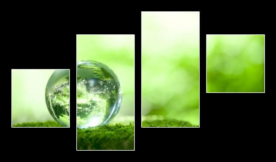 Obraz abstrakce zelené bubliny