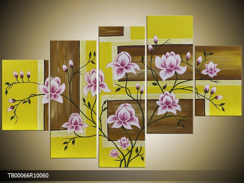 Ručně malovaný obraz květin ve váze