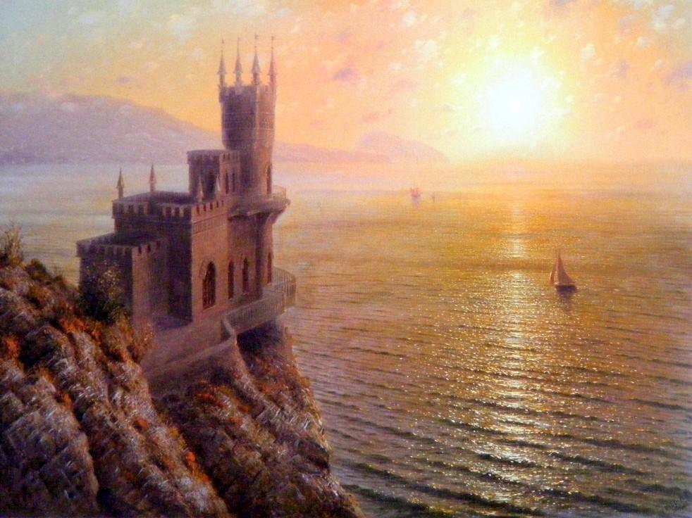 Obraz hradu na skále