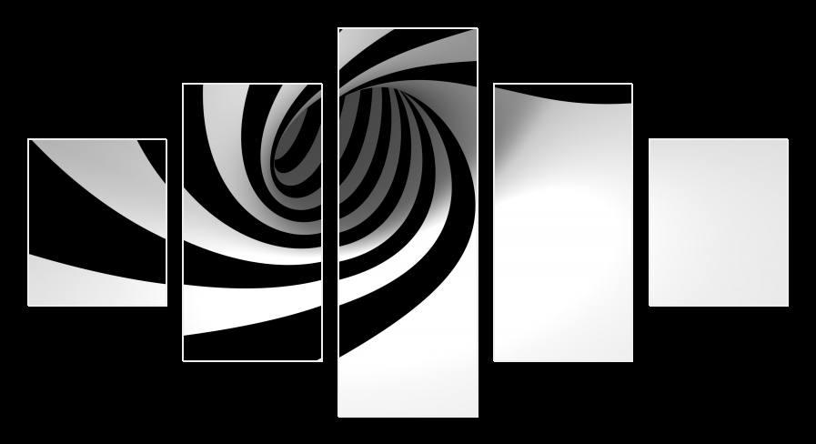 Obraz černobílá spirála