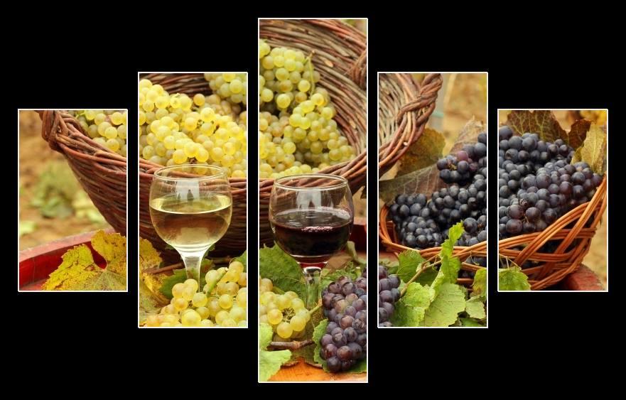 Obraz s vínem