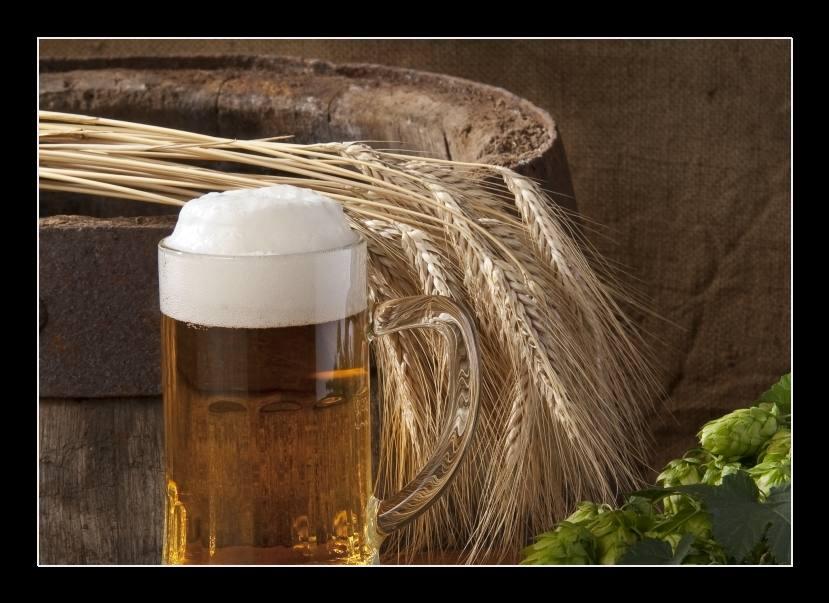 Obraz zátiší s pivem
