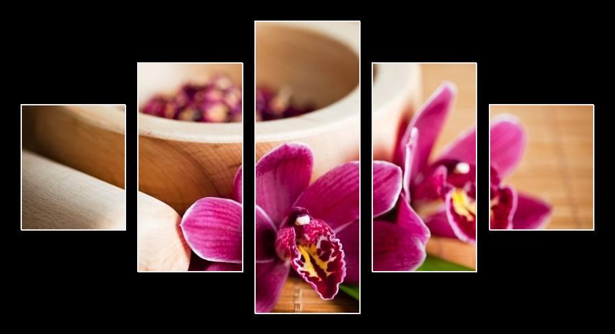 Obraz zátiší s orchideí