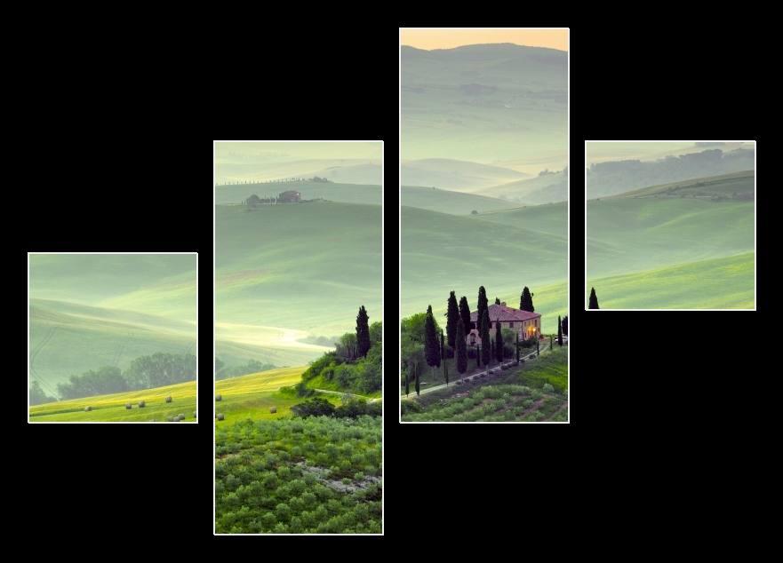 Obraz krajiny v Toskánsku
