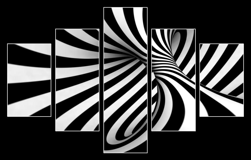 Obraz na zeď černobílý abstrakt