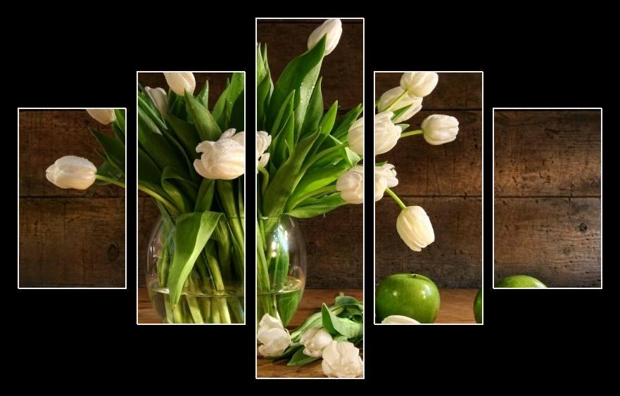 Obraz tulipánů ve váze