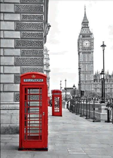 Obraz londýnské telefonní budky