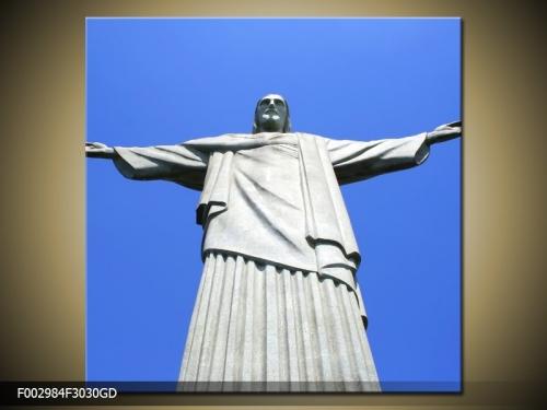 Obraz na skle socha Krista vykupitele