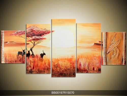 Obraz africké krajiny