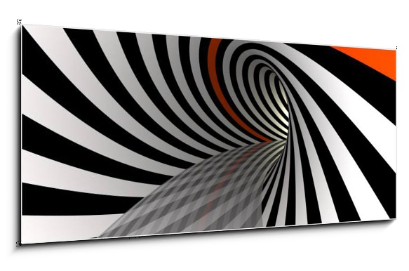 Obraz černobílé abstrakce