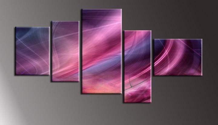 Obraz fialovo lila abstrakce