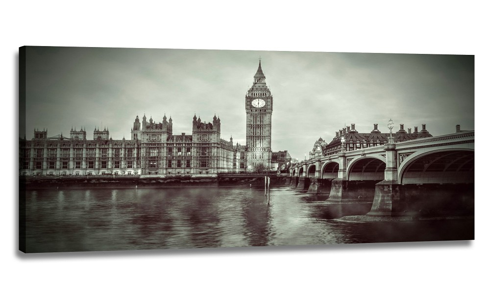 Černobílý obraz Londýna