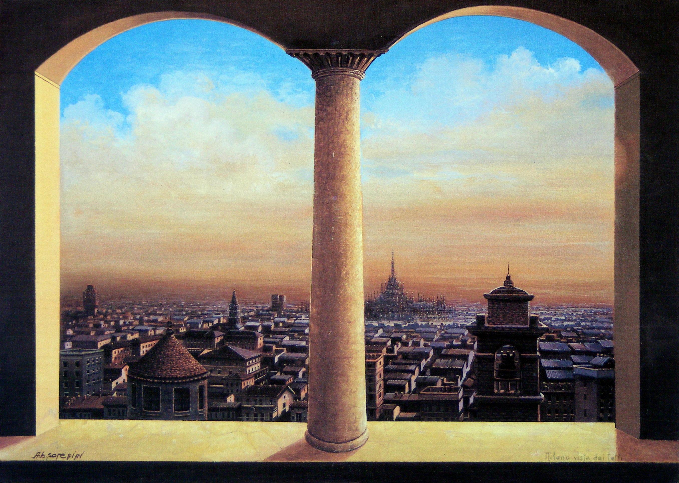 Obraz výhledu na Miláno