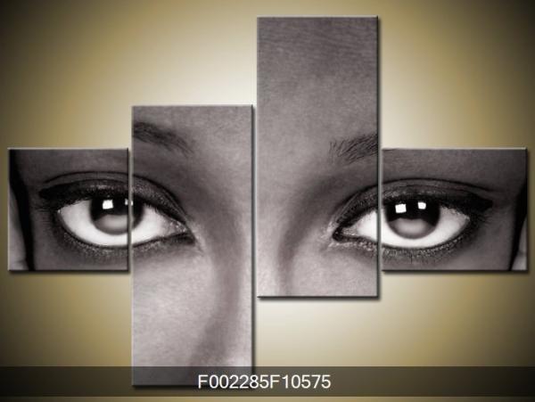 Černobílý obraz očí