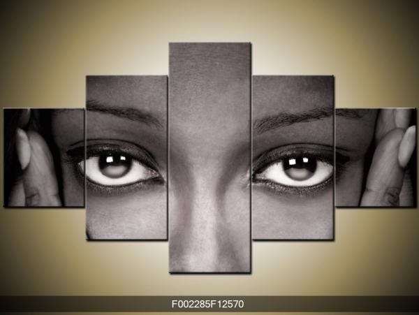 Černobílý obraz na zeď oči