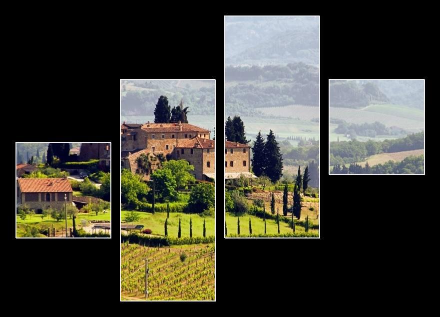 Obraz vinice v Toskánsku