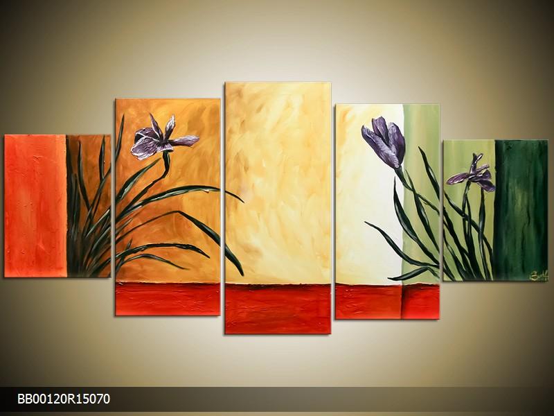Ručně malovaný obraz květin