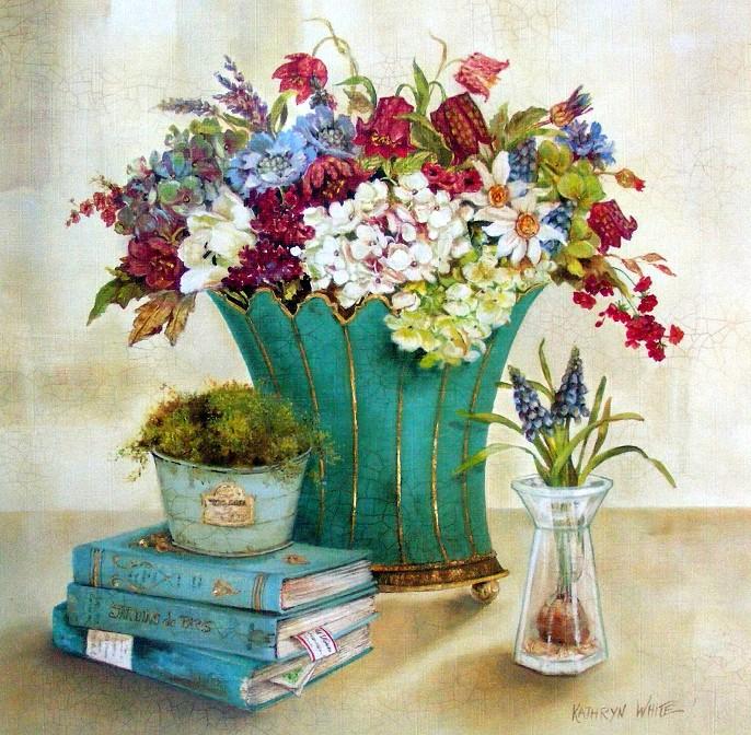 Obraz zátiší s vázou