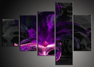 Obraz na stěnu fialová maska