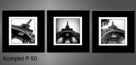Černobílý obraz Eiffelovky