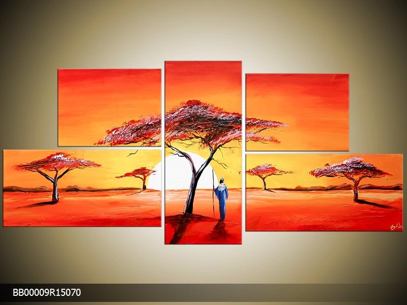 Ručně malovaný obraz africké krajiny